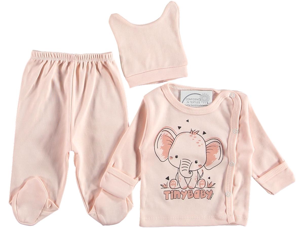 Комплект на малыша 0-3 мес персиковый 315706