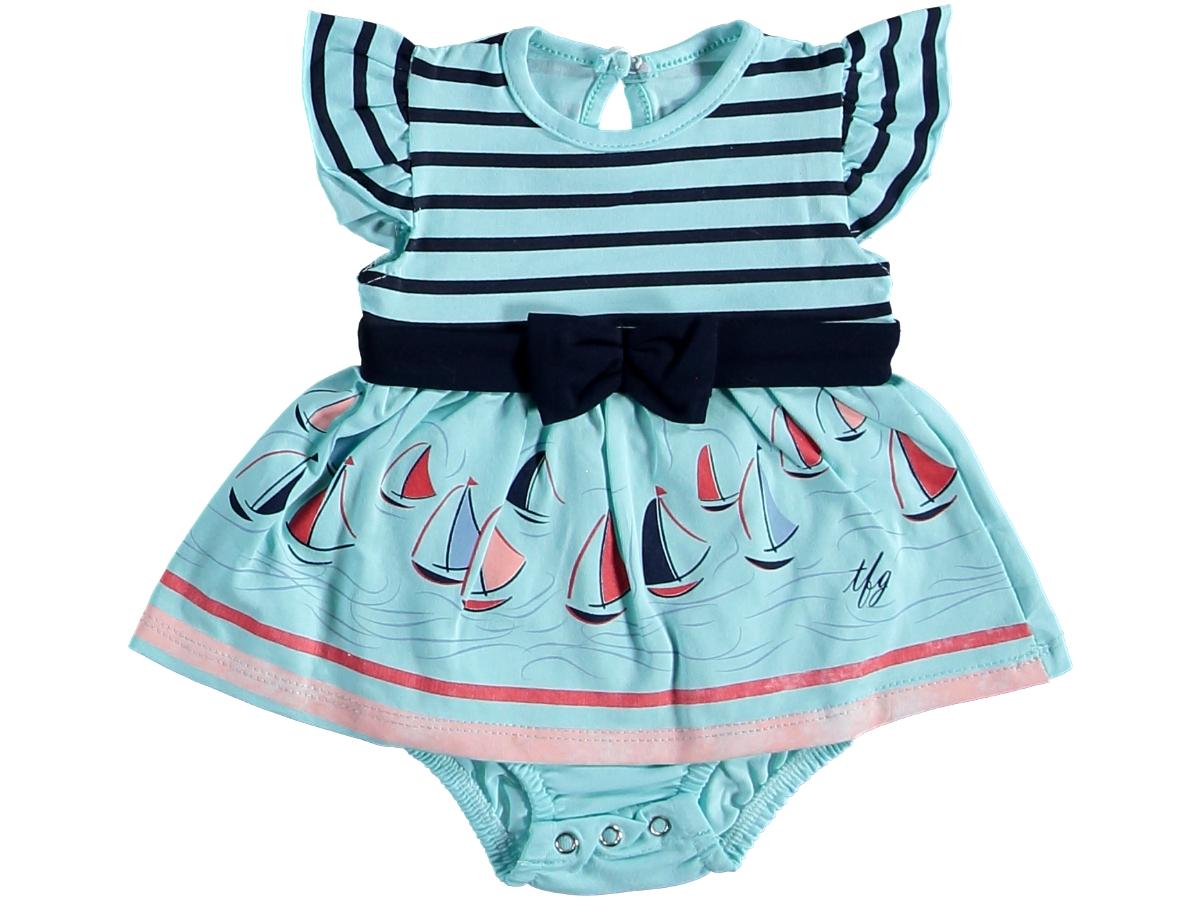 Боди платье морское бирюзовое 321440